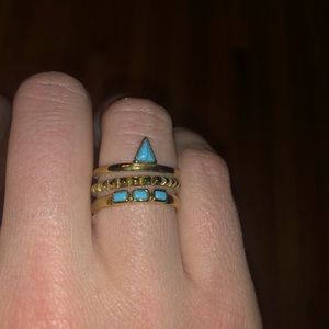 Stella and Dot turquoise stacked ring